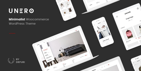 Download free Unero v1.8.7 – Minimalist AJAX WooCommerce WordPress Theme