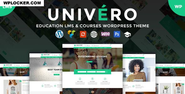 Download free Univero v1.9 – Education LMS & Courses WordPress Theme