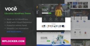 Download free Vocee v1.0.2 – Education & LMS WordPress Theme