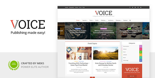 Download free Voice v2.9.4 – Clean News/Magazine WordPress Theme