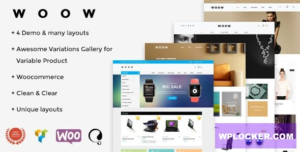 Download free WOOW v1.1.53 – Responsive WooCommerce Theme