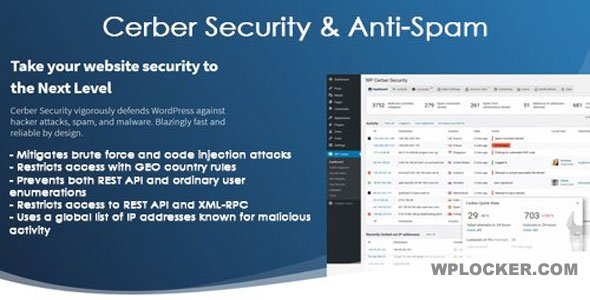 Download free WP Cerber Security PRO v8.6.6