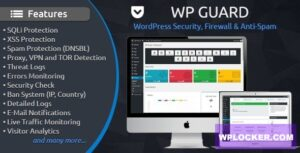 Download free WP Guard v1.4 – Security, Firewall & Anti-Spam plugin for WordPress
