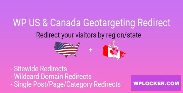 Download free WP US&Canada State Geotargeting Redirect v1.0