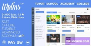 Download free WPLMS v4.0.1 – Learning Management System for WordPress