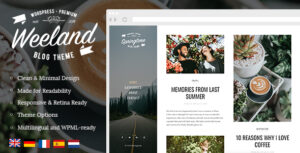 Download free Weeland v1.4 – Masonry Lifestyle WordPress Blog Theme