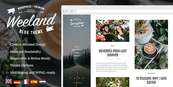 Download free Weeland v1.4 – Masonry Lifestyle WordPress Blog Theme
