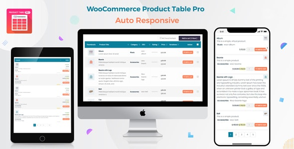 Download free Woo Product Table Pro v7.0.0 – WooCommerce Product Table view solution