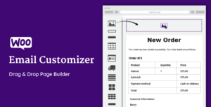 Download free WooCommerce Email Customizer with Drag and Drop v1.5.15