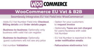 Download free WooCommerce Eu Vat & B2B v10.1