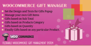Download free WooCommerce Gift Manager v2.6