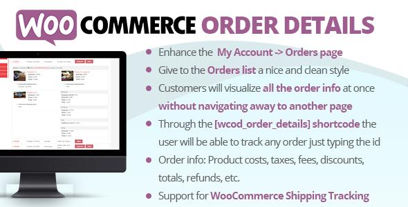 Download free WooCommerce Order Details v2.7