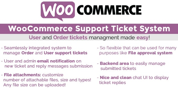 Download free WooCommerce Support Ticket System v1.2.9