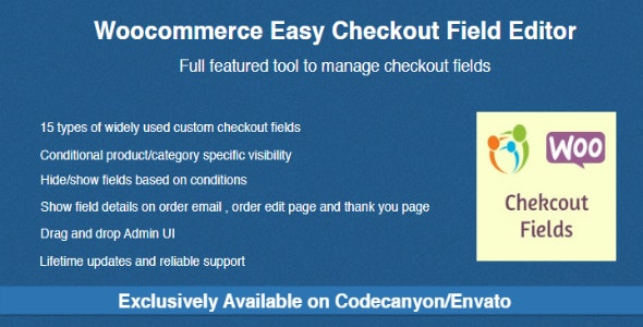 Download free Woocommerce Easy Checkout Field Editor v2.0.1