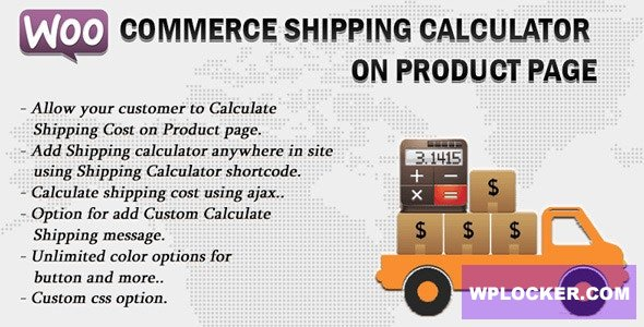 Download free Woocommerce Shipping Calculator On Product Page v2.3
