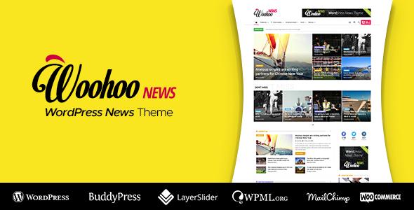 Download free Woohoo v2.4.5 – WordPress news and magazine multi-concept website theme