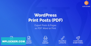 Download free WordPress Print Posts & Pages (PDF) v1.5.0