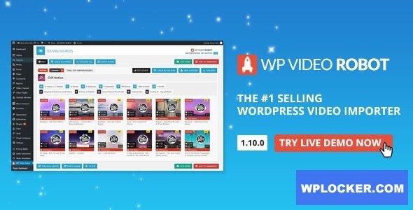 Download free WordPress Video Robot Plugin v1.10.0