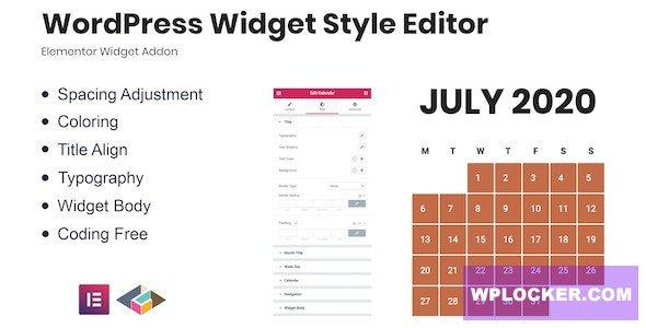 Download free WordPress Widget Style Editor Elementor Addon v1.0.0