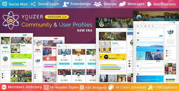 Download free Youzer v2.5.1 – Buddypress Community & WordPress User Profile Plugin