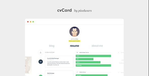 Download free cvCard WP v1.4.3 – Responsive vCard WordPress Theme