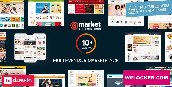 Download free eMarket v2.8.0 – Multi Vendor MarketPlace WordPress Theme