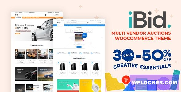 Download free iBid v2.2 – Multi Vendor Auctions WooCommerce Theme