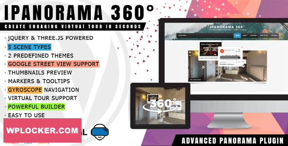 Download free iPanorama 360° v1.5.23 – Virtual Tour Builder for WordPress