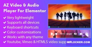 Download free AZ Video and Audio Player Addon for Elementor v1.0.8