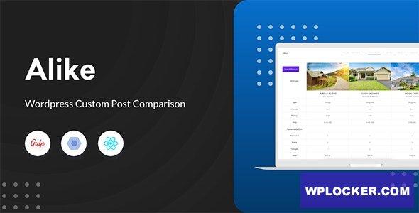 Download free Alike v2.1.4 – WordPress Custom Post Comparison