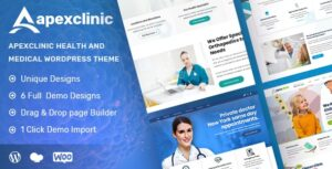 Download free ApexClinic v1.2.3 – Health & Medical Theme