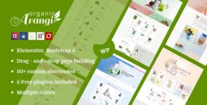 Download free Arangi v1.3.7 – Organic WooCommerce WordPress Theme
