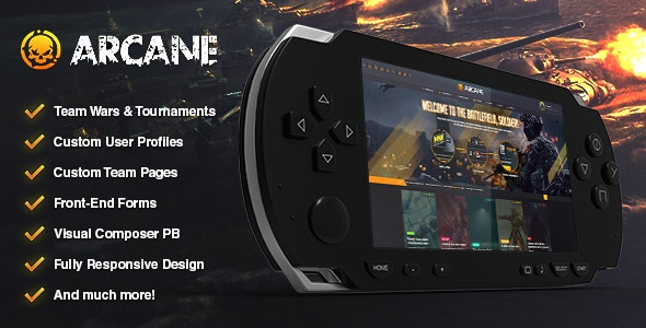 Download free Arcane v2.7.2 – The Gaming Community Theme