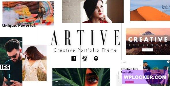 Download free Artive v1.0.0 – Creative Portfolio Theme