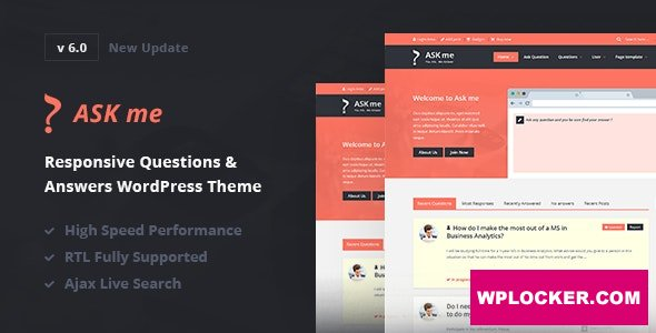 Download free Ask Me v6.3.4 – Responsive Questions & Answers WordPress