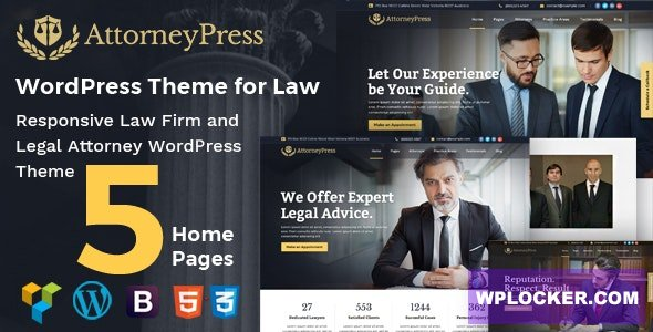Download free Attorney Press v2.1.1 – Lawyer WordPress Theme