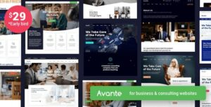 Download free Avante v1.8 – Business Consulting WordPress