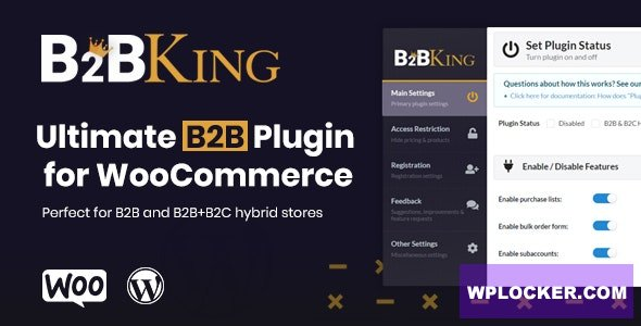 Download free B2BKing v1.9.0 – The Ultimate WooCommerce B2B & Wholesale Plugin
