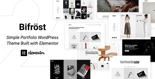 Download free Bifrost v2.1.3 – Simple Portfolio WordPress Theme