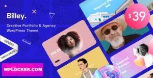 Download free Billey v1.2.1 – Creative Portfolio & Agency WordPress Theme