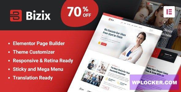 Download free Bizix v1.1.2 – Corporate and Business WordPress Theme