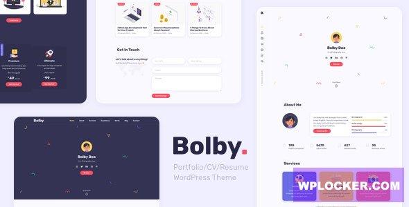 Download free Bolby v1.0.1 – Portfolio/CV/Resume WordPress Theme