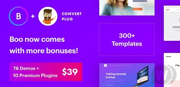 Download free Boo – Multipurpose WordPress Theme v3.8.0
