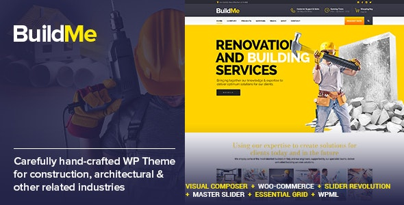 Download free BuildMe v4.3 – Construction & Architectural WP Theme