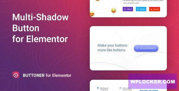 Download free Buttoner v1.0.2 – Multi-shadow Button for Elementor
