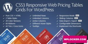 Download free CSS3 Responsive Web Pricing Tables Grids v11.2