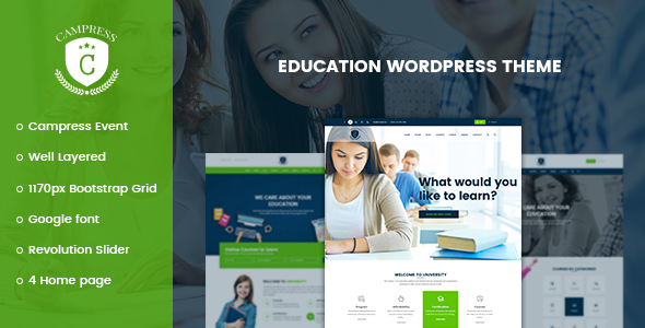 Download free Campress v1.16 – Responsive Education, Courses and Events