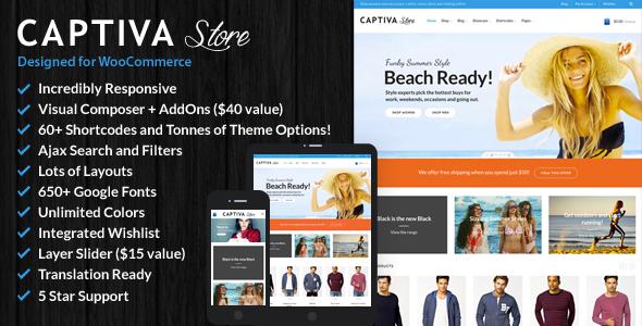 Download free Captiva v2.5 – Responsive WordPress WooCommerce Theme