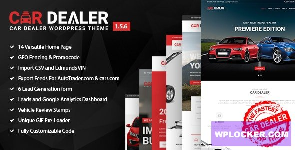Download free Car Dealer v1.5.6 – Automotive Responsive WordPress Theme