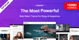 Download free CheerUp v7.3.0 – Blog / Magazine – WordPress Blog Theme